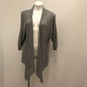 Eileen Fisher Woman Size 2x Grey open sweater